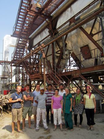 Renewable / alternative energy team during visit to a biomass power station